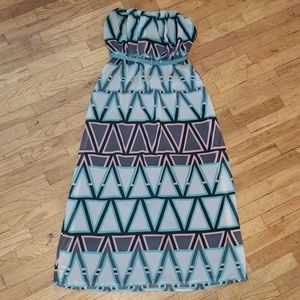 Strapless🌴 maxi dress with belt